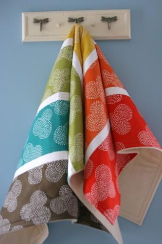 Circle Stitch Stripe Blanket