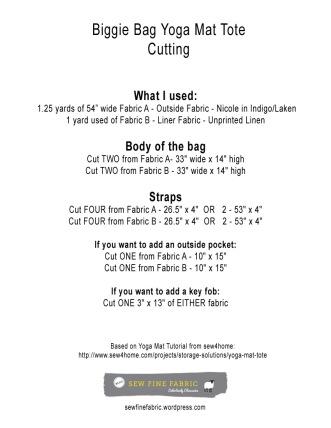yoga mat cutting info