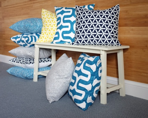 diypillowcoversonbench